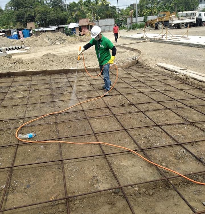 SOIL TREATMENT- To prevent future termites infestation of the building.  #hospit...
