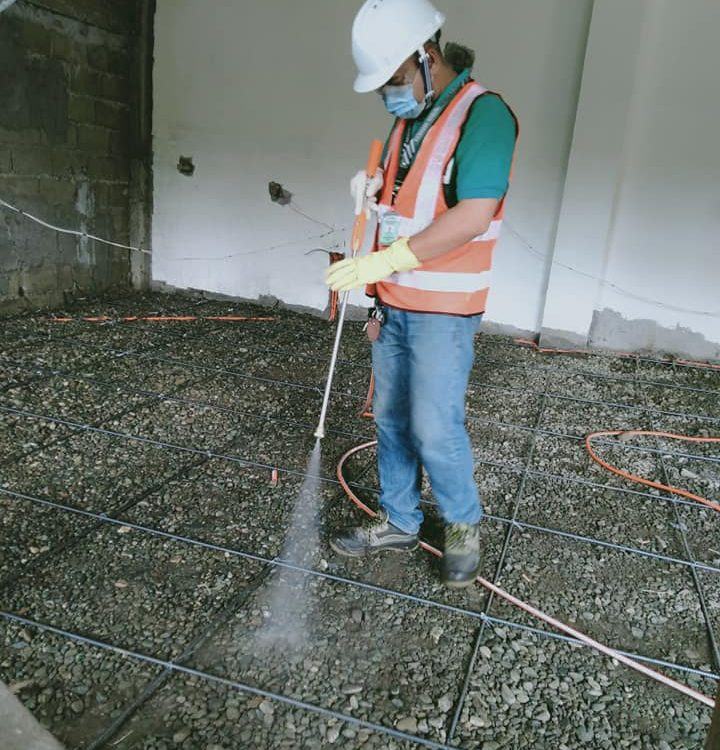 Soil Treatment for anti Termites.  Before mag flooring  09205898161/09667031064