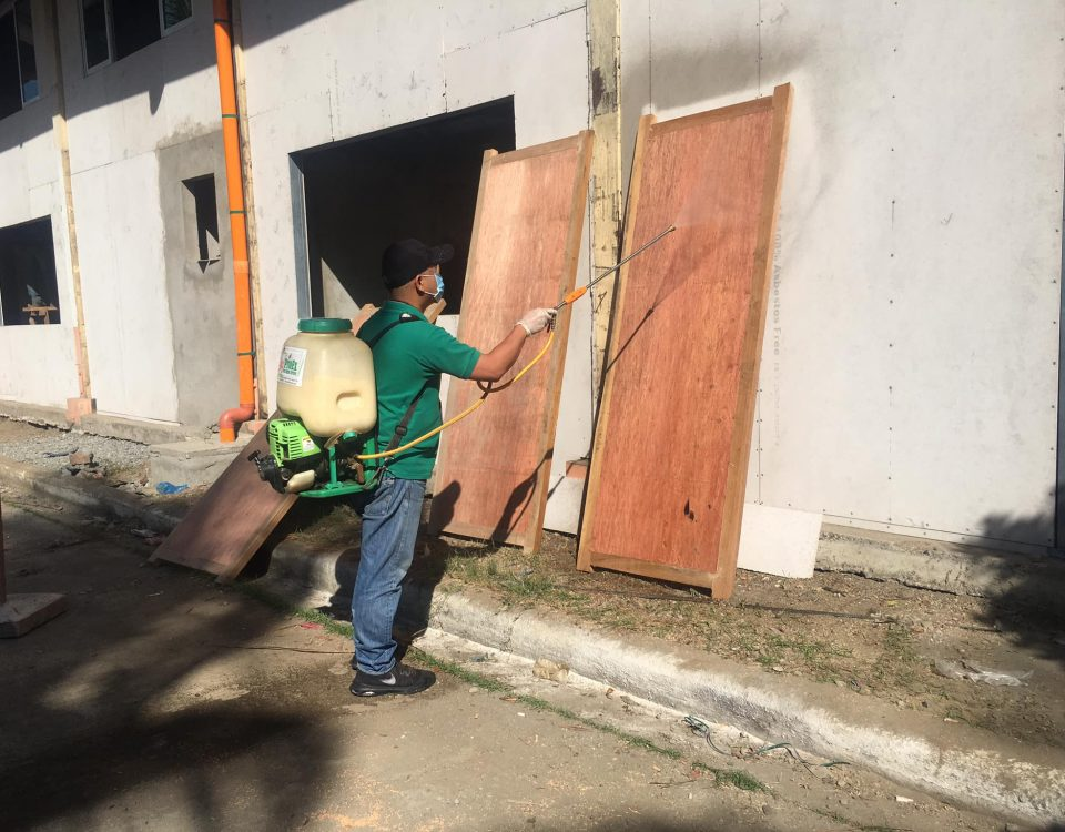 Wood Drenching for anti-termites.