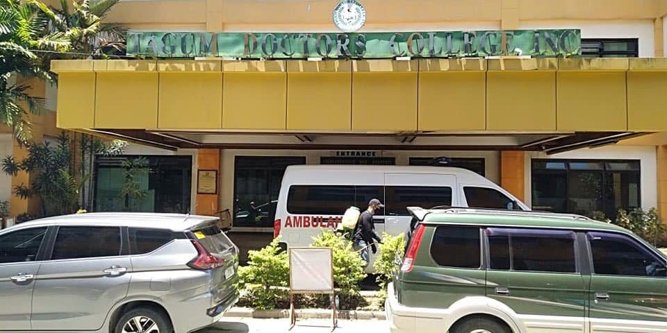 Davao Doctors College Inc. disinfection service!