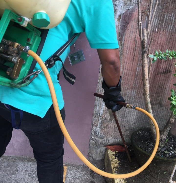 Injection Method of cordoning the area for anti-termites.