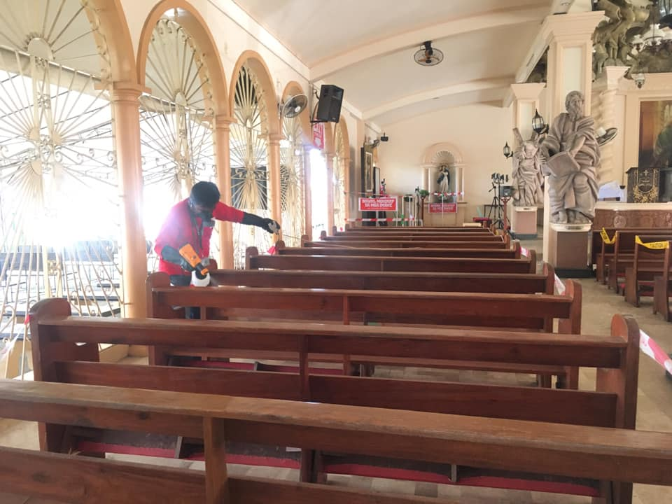 Massive Disinfection at Parish of Christ the Eucharistic King  Thank you Lord fo...